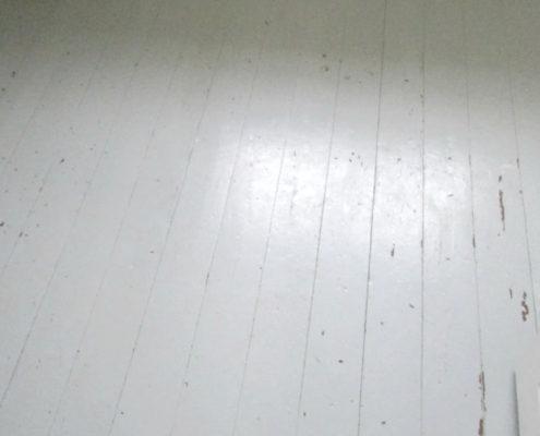 Afhøvling af malet gulv